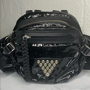 ALEXANDER WANG NEO PATENT LEATHER HIKING BAG